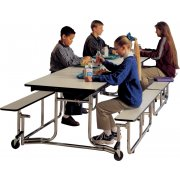 Uniframe Mobile Cafeteria Table - Chrome Finish, 96