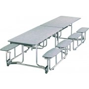 Uniframe Split Bench Cafeteria Table - Painted, 139