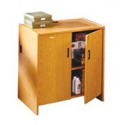 Glacier Modular Library Circulation Desk - Cabinet