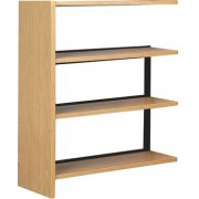 Single Faced Wood Library Shelving - 42