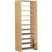 Double Faced Wood Library Shelving - 72