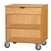Open Mobile Storage Cabinet w/1 Shelf and 1 Drawer