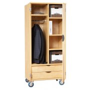Mobile Storage Cabinet with Doors 4 Shelves 2-Drawers