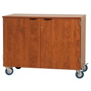 Mobile Storage Cabinet with Doors (48