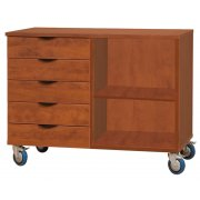 Mobile Storage Cabinet - Open (5-Drawer)