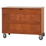 Open Mobile Storage Cabinet w/1 Full Drawer