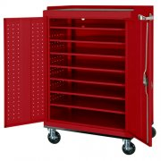 Mobile Laptop Charging & Storage Cart - 16-Capacity, Locking