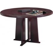 Solid Wood Tapered Base Round Table (48