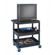 "Heavy Duty AV Utility Cart with 3 Shelves (32x24"")"