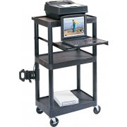 Sit Down Presentation Cart with Middle Shelf