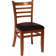 Burlington Wooden Library Chair - Vinyl Seat