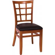 Pennington Wooden Library Chair - Vinyl Seat