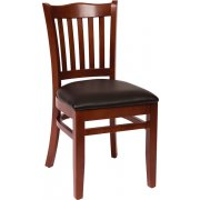Princeton Wooden Library Chair - Vinyl Seat