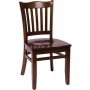 Princeton Wooden Library Chair - Wood Seat