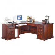 L-Shaped Office Desk w/ Left Return in Cherry