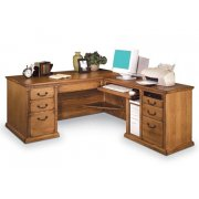 Americana L-Shaped Office Desk w/Right Return