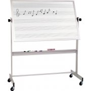 Mobile Porcelain Music and Whiteboard Alum Frame (4'x6')