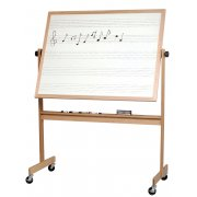 Reversible Porcelain Music Board and Whiteboard (4'x6')