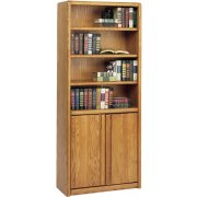 Contemporary Bookcase with Doors (30