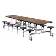 NPS Bedrock Cafeteria Stool Table - 8'