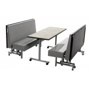 AmTab Mobile Folding Booth Seating and Table (30x60