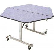 MIT Mobile Hexagon Cafeteria Table - Chrome Legs (48x48