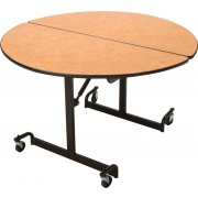 Mobile Round Cafeteria Table - Black Legs (48