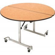 Mobile Round Cafeteria Table - Chrome Legs (48