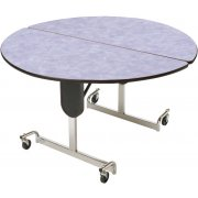 Adj. Height Round Cafeteria Table - Chrome (48