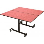 Mobile Square Cafeteria Table - Black Legs (48x48