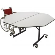 Mobile Octogon Cafeteria Table - Black Legs (60x60