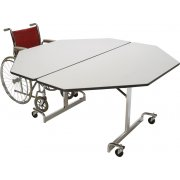 Mobile Octogon Cafeteria Table - Chrome Legs (60x60