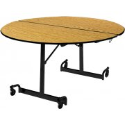 MIT Mobile Round Cafeteria Table - Black Legs (60