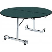 Mobile Round Cafeteria Table - Chrome (60