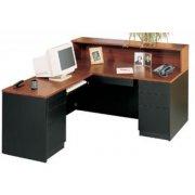 Milan L-Shaped Reception Desk, Left