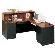 Milan L-Shaped Reception Desk, Right