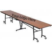 Stow-Away Folding Rectangular Cafeteria Table (8')