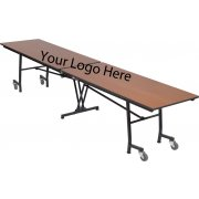 Stow-Away Folding Rectangular Cafeteria Table (12')