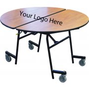 Stow-Away Folding Round Cafeteria Table (72