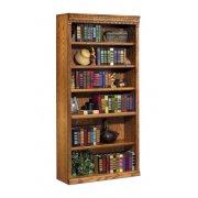 Traditional Oak Veneer Bookcase (3'Wx6'H)