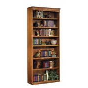 Traditional Oak Veneer Bookcase (3'Wx7'H)