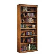 Traditional Oak Veneer Bookcase (3'Wx7'H)