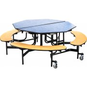 NPS Octagon Bench Cafeteria Table - ProtectEdge, Plywood