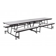 Antimicrobial Mobile Cafeteria Table - MDF, ProtectEdge (12')