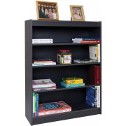 Reinforced Shelf Gray Laminate Bookcase with 2 Shelves (36