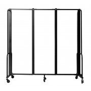 NPS® Room Divider, 3 Clear Acrylic Panels (6'H)