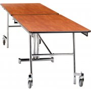 Folding Cafeteria Table - Plywood Core, Chrome (10'L)