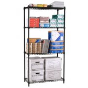Industrial Metal Wire Shelving - 4 Shelves, 48