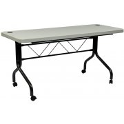 Office Star Flip Top Training Table (4')