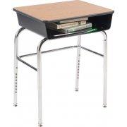 Deluxe Adj. Ht. Open Front School Desk - Laminate, U Brace
